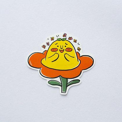 花兒中的肥桔 /sticker