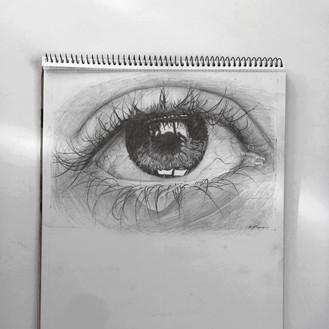 A3 Eye Detail Sketch