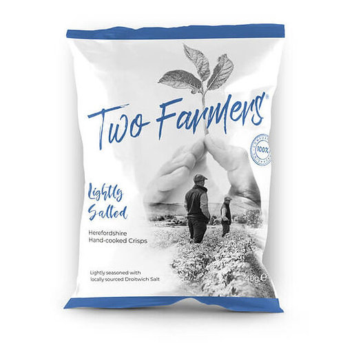 Two Farmers Lightly Salted Hand-cooked Crisps 40g
