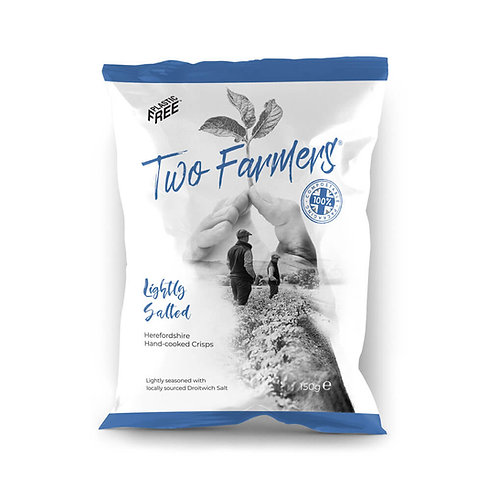 Two Farmers Lightly Salted Hand-cooked Crisps 150g