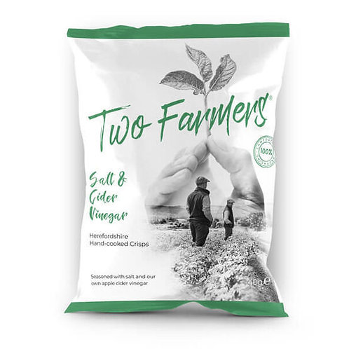 Two Farmers Salt & Cider Vinegar Hand-cooked Crisps 40g