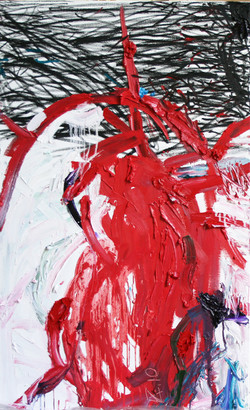 huile, pastel sur toile 130x89