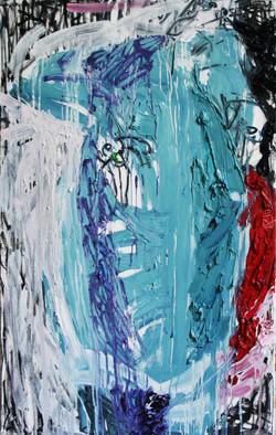 Huile,pastel sur toile, 130x89