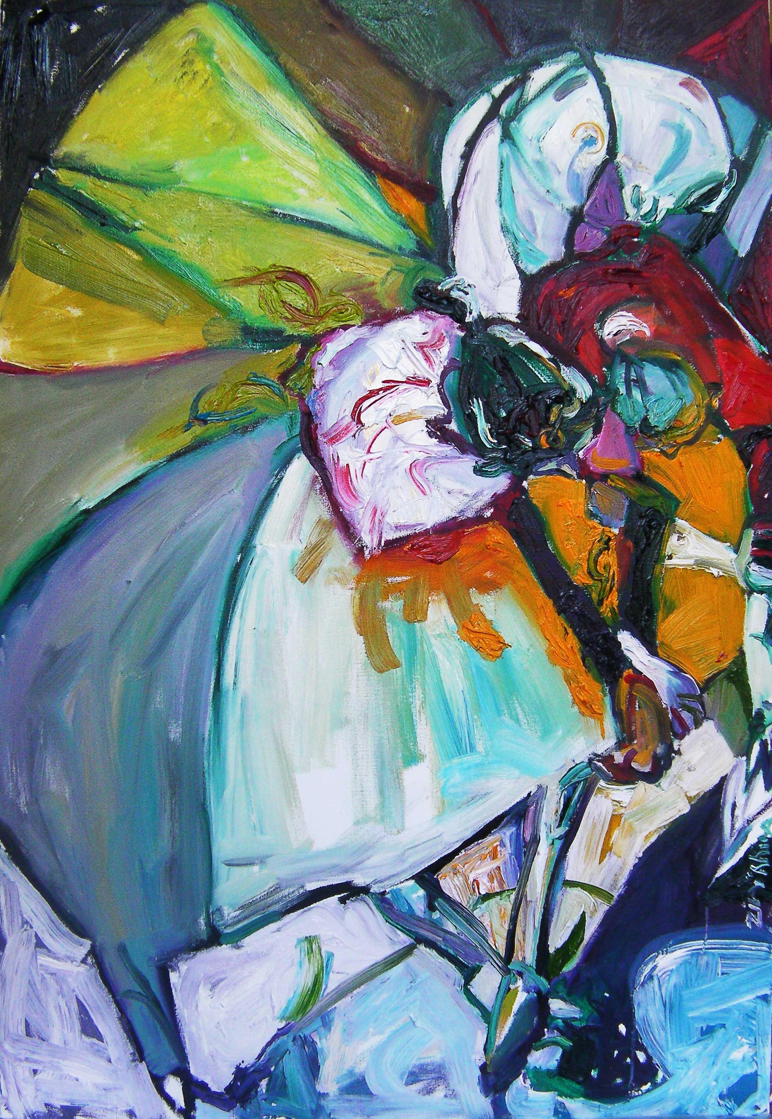 Danse2/ huile du toile / 130 x 81