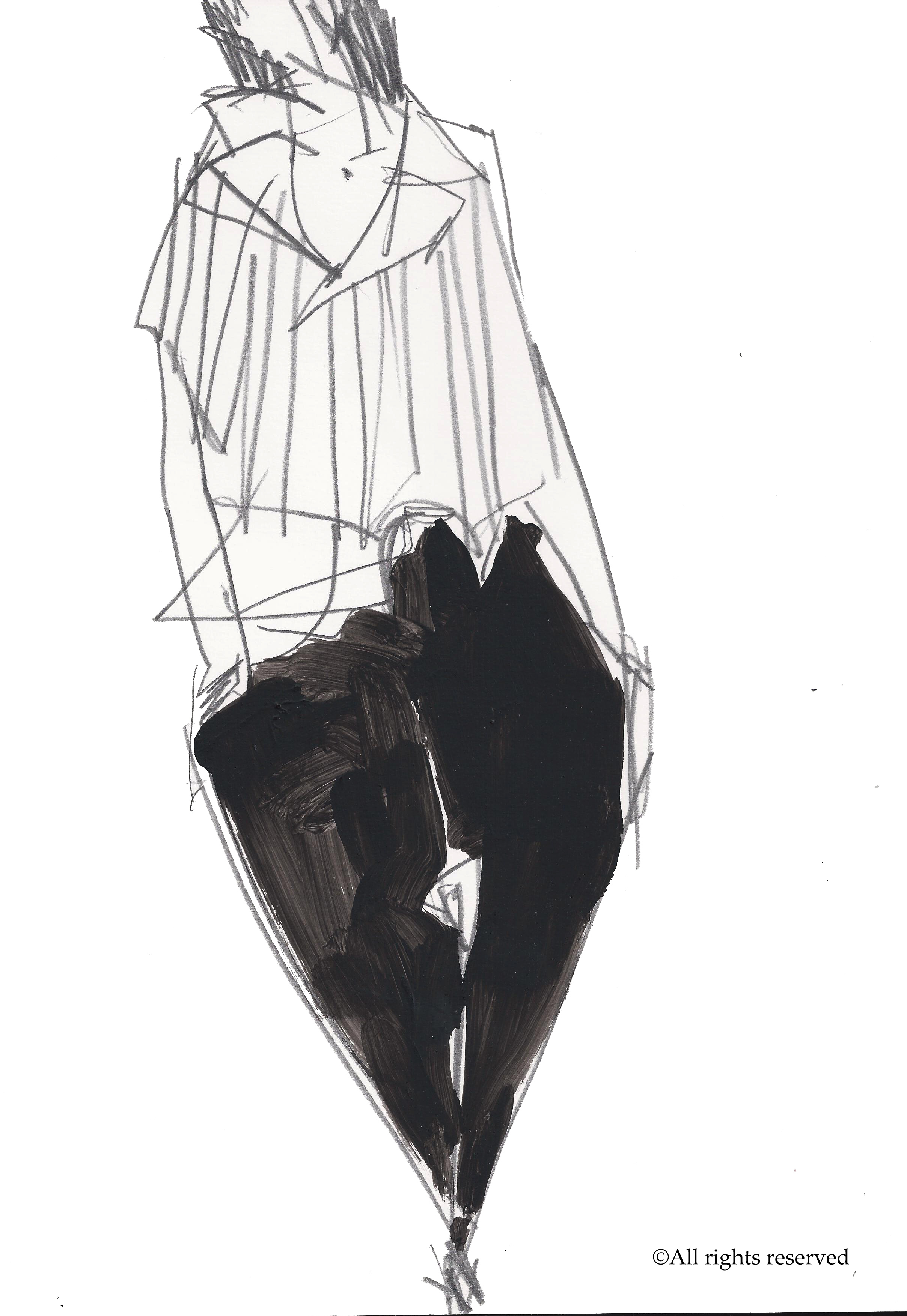 acrylique, crayon