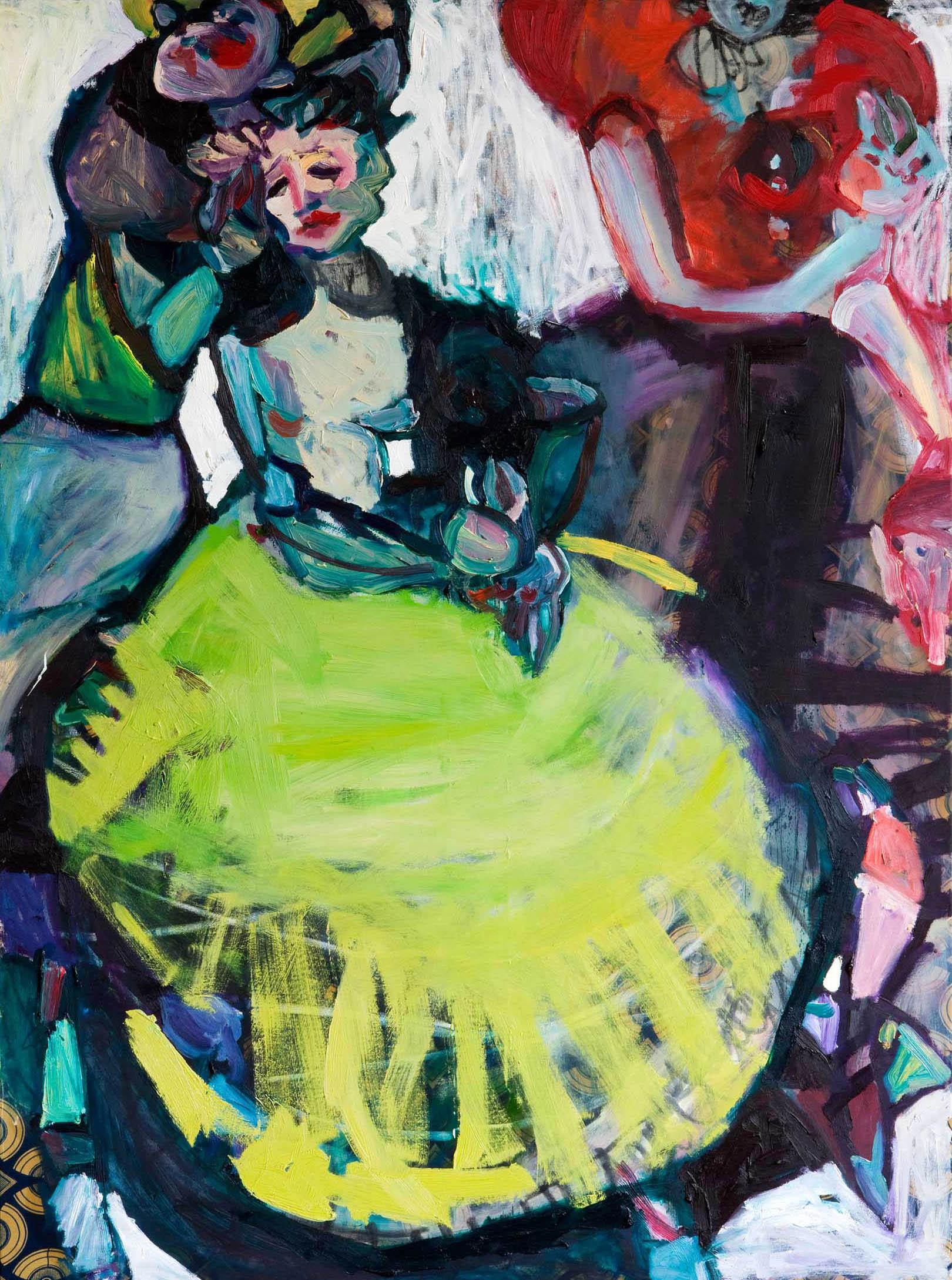 Danse1/huile sur toile/130 x 97