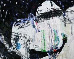 huile, pastel sur toile/150x130