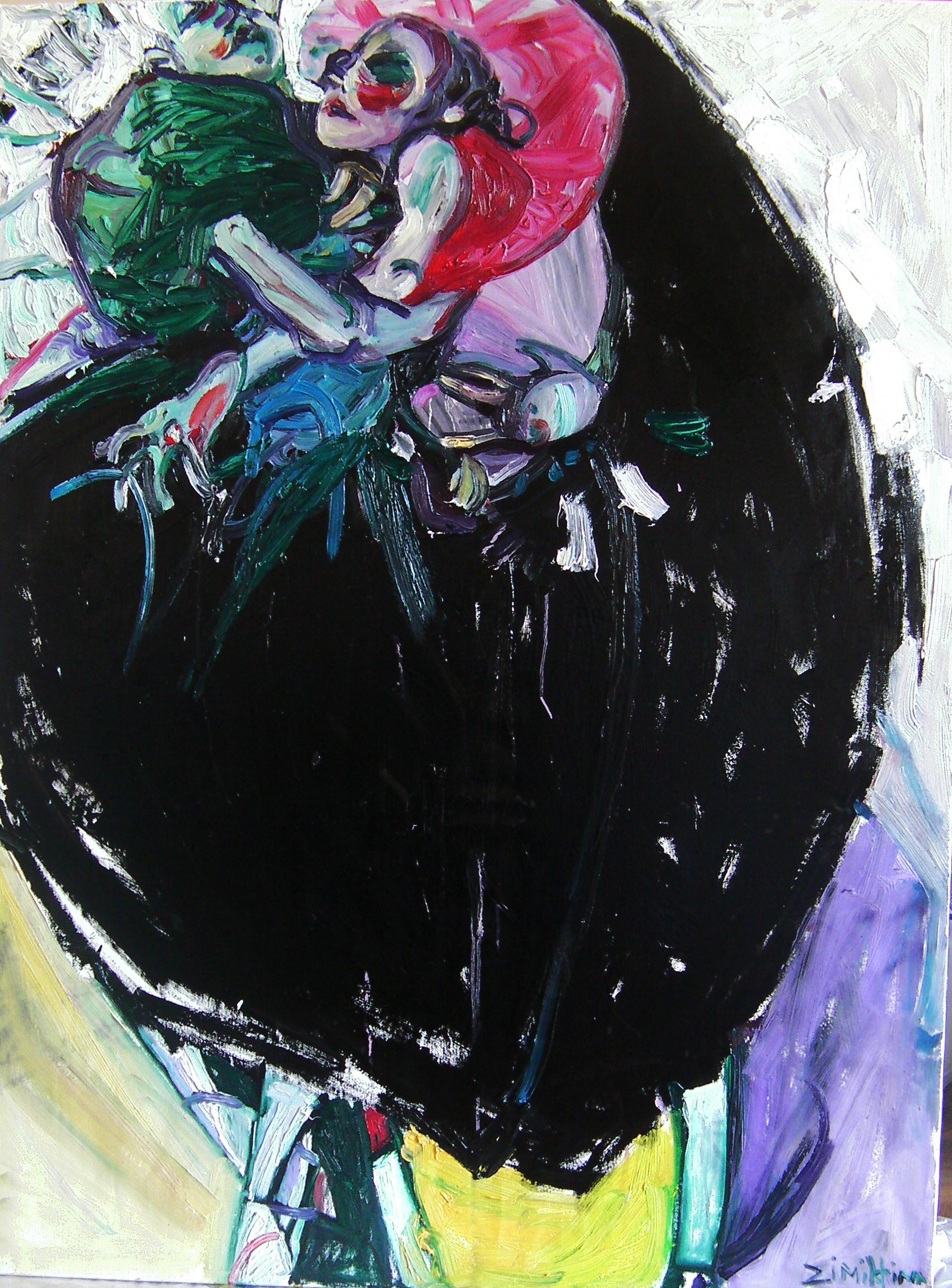 Danse2 / huile sur toile / 130 x 81