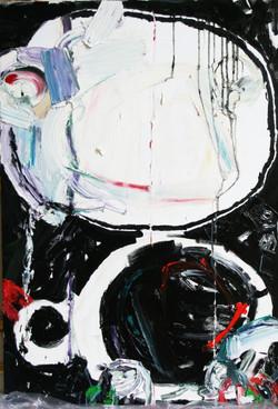Huile, pastel sur toile 130 x 97