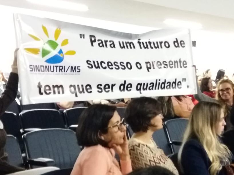 Em 2018, SindNutriMS na câmara dos vereadores, contra cursos EAD na área da saúde.