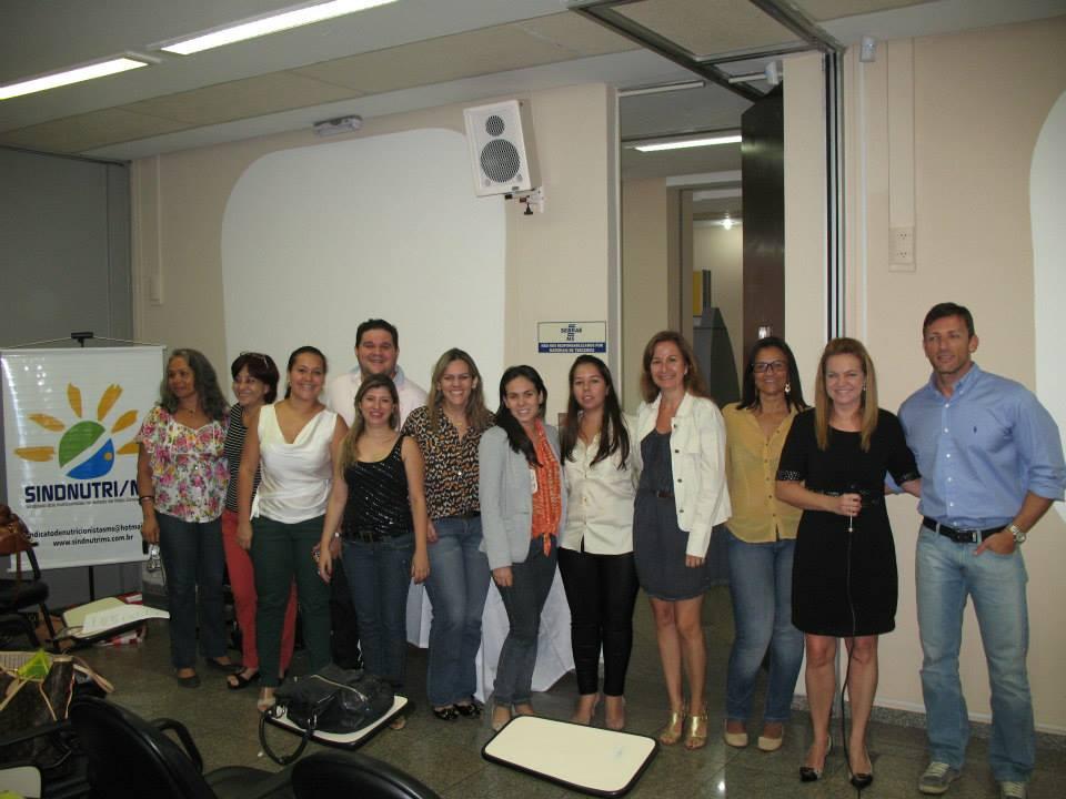 Diretoria SindNutri MS presente no curso ministrado por Marcelo Carvalho em Setembro de 2013.