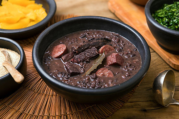 Feijoada (black beans stew with beef and chorizo)