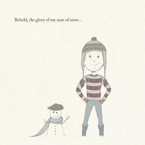 Man of Snow Greetings Card