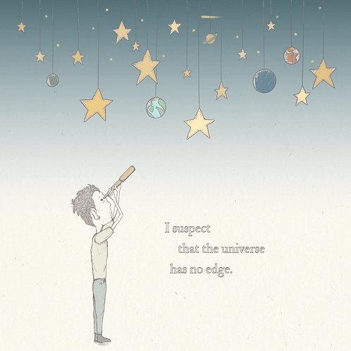 Star Gazer Boy Greetings Card