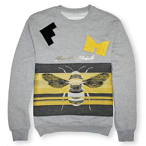 Woven Motif Cotton Sweatshirt