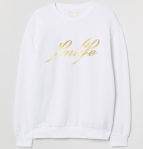 Cotton Gold Foil Graphic Sweatshirt