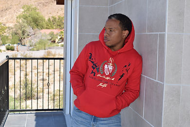 Red pullover hoodie sweatshirt culture collection