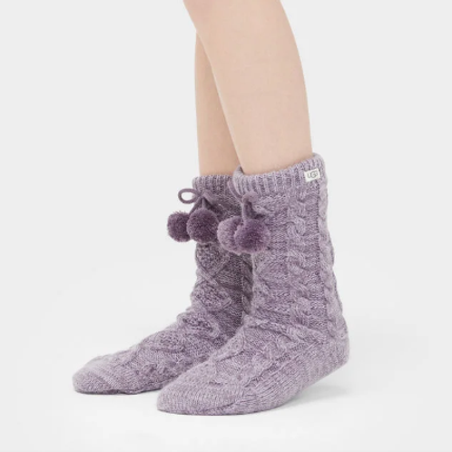 UGG | Women's Pom Pom Fleece Lined Crew Sock