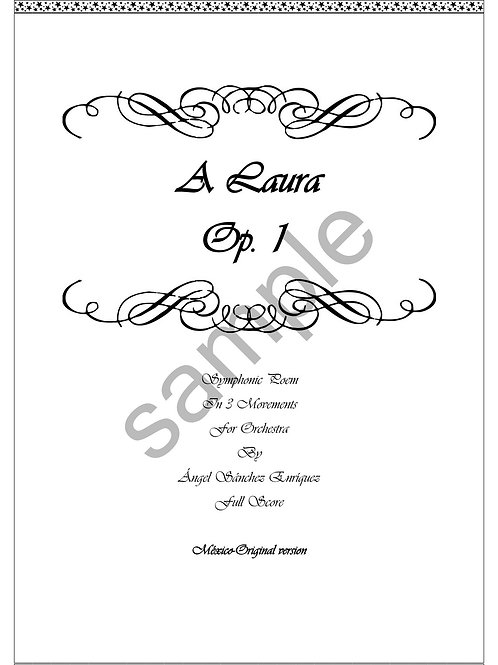 a Laura, Symphonic Poem Op. 1 for full orchestra, full score and parts