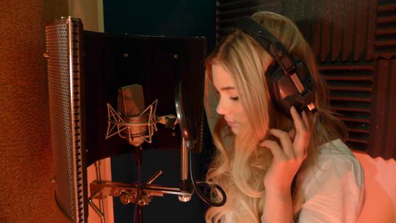 recording Abi Innez for The Journey