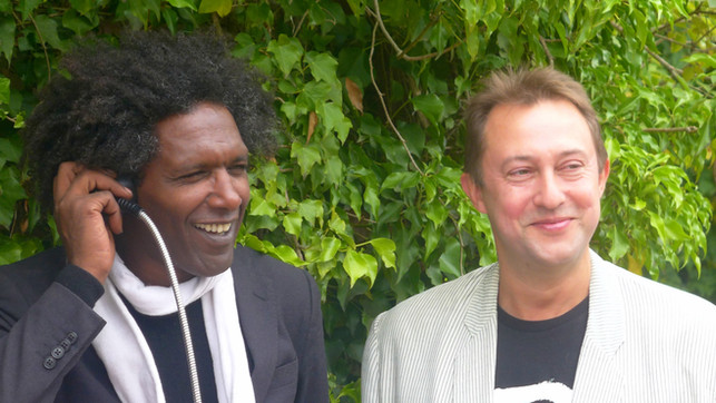 with Lemm Sissay (Poet Laureate) launching the RAF audio trail