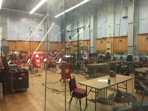Sussing out Abbey Road Studio 1 for Pegasus Bridge Movie
