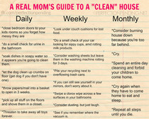 A Real Mom's Guide to A Clean House