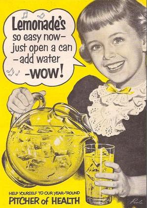 Vintage lemonade ad, lemonade slogan