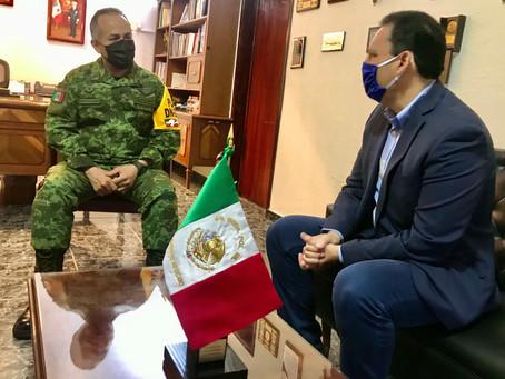 RECONOCE TOÑO MARTÍN DEL CAMPO DESTACADA LABOR DEL EJÉRCITO MEXICANO