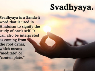 Self Study - Svadhyaya