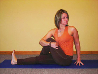 Seated Spinal Twist Marichyasana III