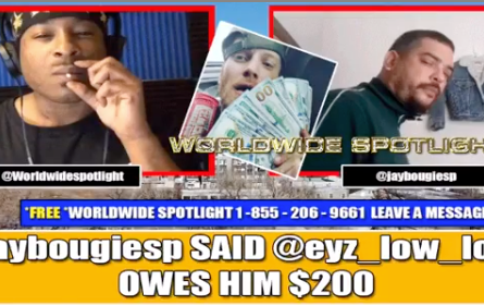 @jaybougiesp said @eyz_low_lookn owes $200 & is giving Waste Man excuses