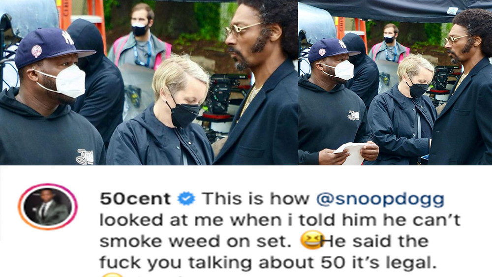 50 Cent & Snoop Dogg Stare each other Down
