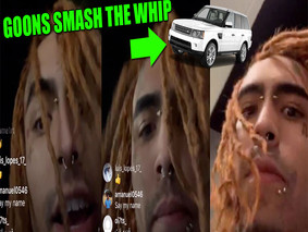 Goonies Smashed Rapper Lil Pump Range Rover