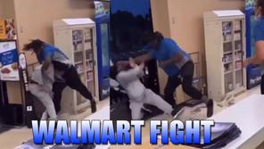 Walmart employee punches customer 22 times then RAN behind a Woman
