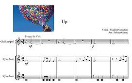Música de up para xilófono marimba lira