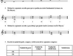 ejercicios de intervalos y tipos de compases, lenguaje musical