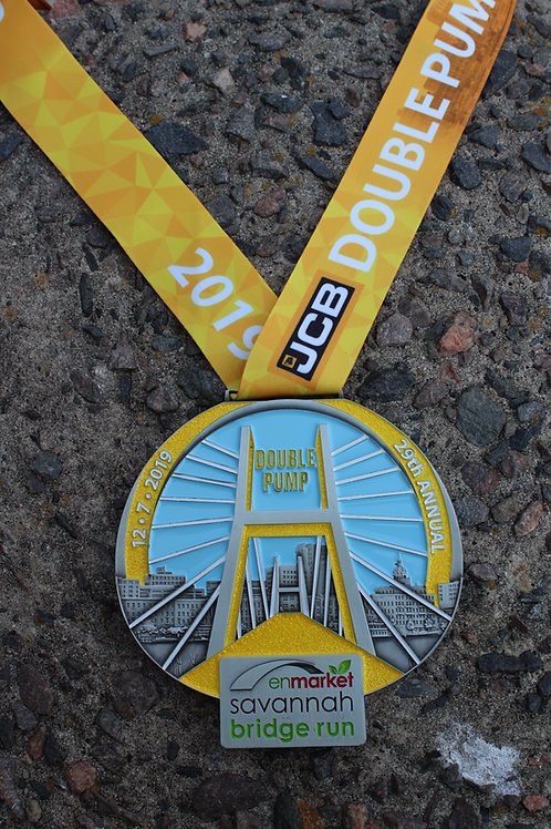 Double Pump 2019 Finisher Medal
