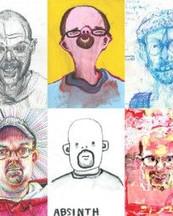 Bryan Lewis Saunders,il pittore che dipinge sotto effetto di sostanze stupefacenti.