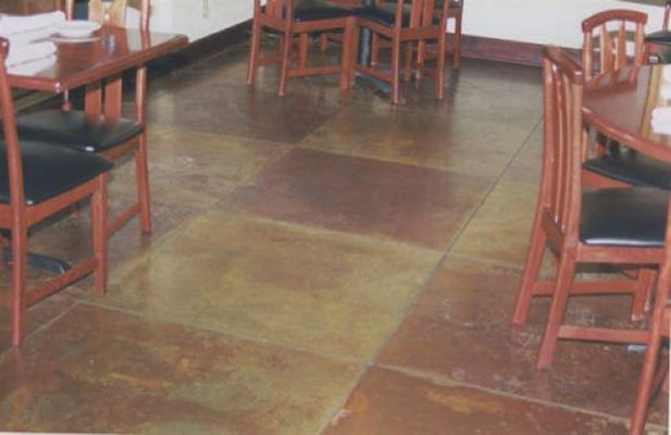 Custom Concrete Acid Staining