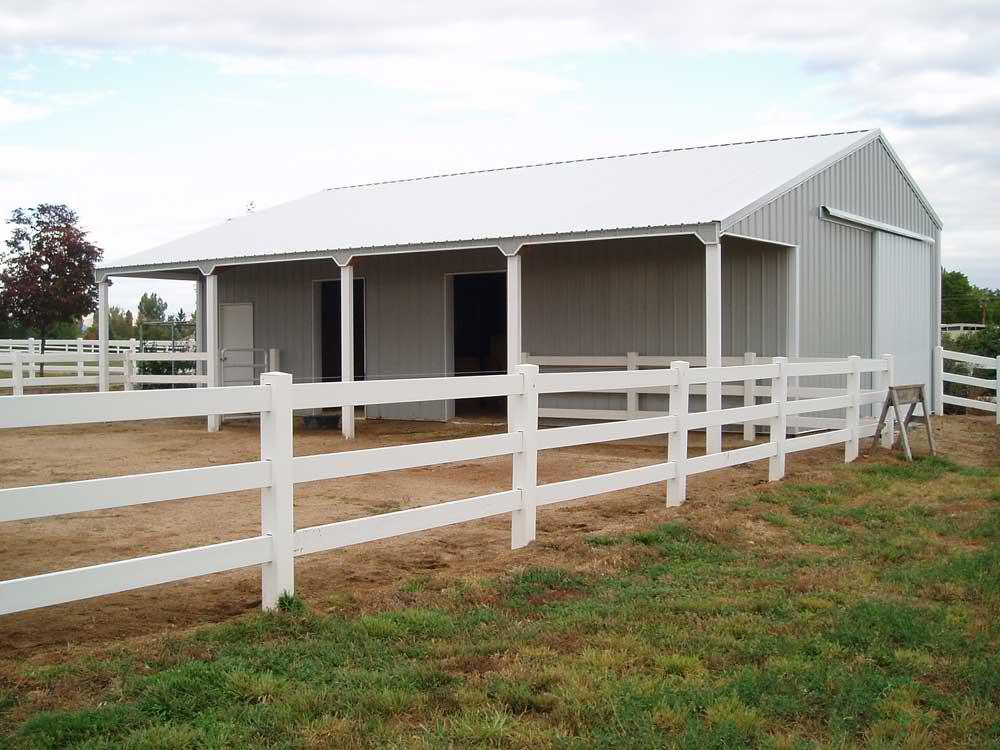 Horse Pole Barn by RLS Builders