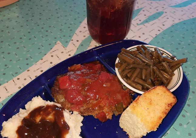 Homemade Meatloaf Plate
