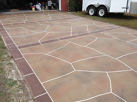 Panama City Floridia custom decorative concrete for driveways and walk ways