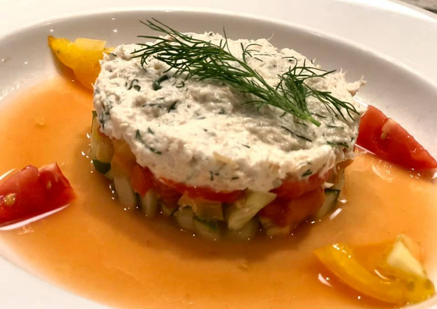 Tomato and Crab salad for the summer