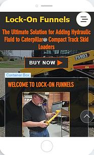 Lock On Funnels - Caterpillar hydraulic fluid refill funnel