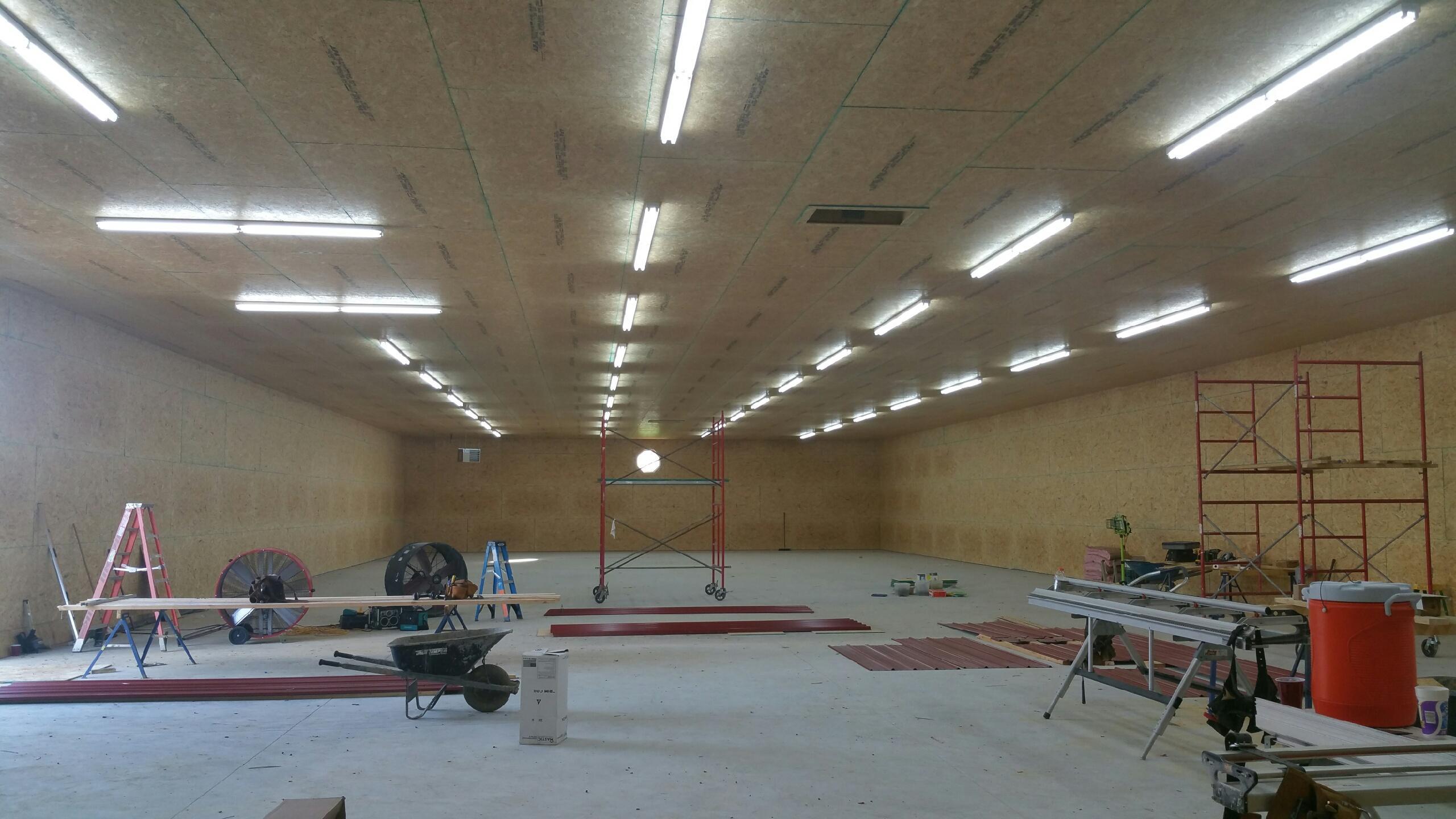 50'x150' Pole Barn Finished Interior