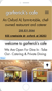Oxford AL fine dining and farm to table restaurant