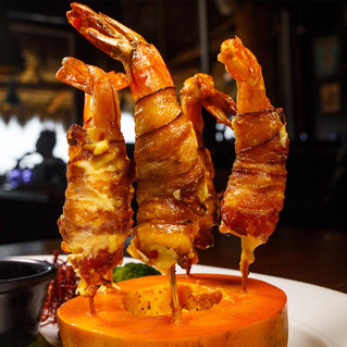 We have over 30 different shrimp and seafood offerings