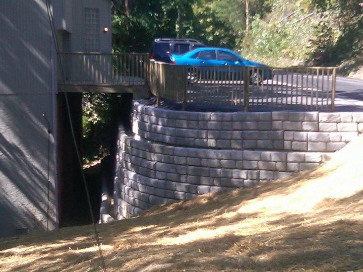 New Stone Retaining Wall