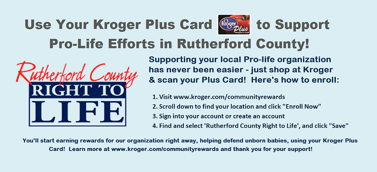 Kroger card support for Rutherford County TN